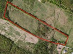 Aerial Map for farm land for sale