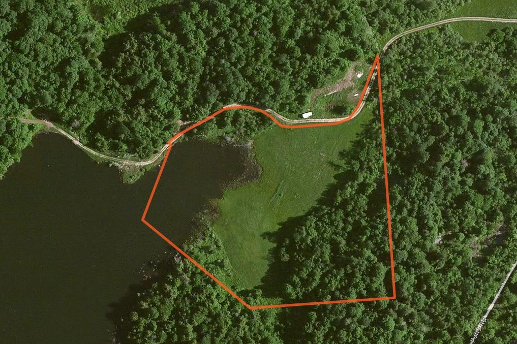 Aerial Map Country Home Site
