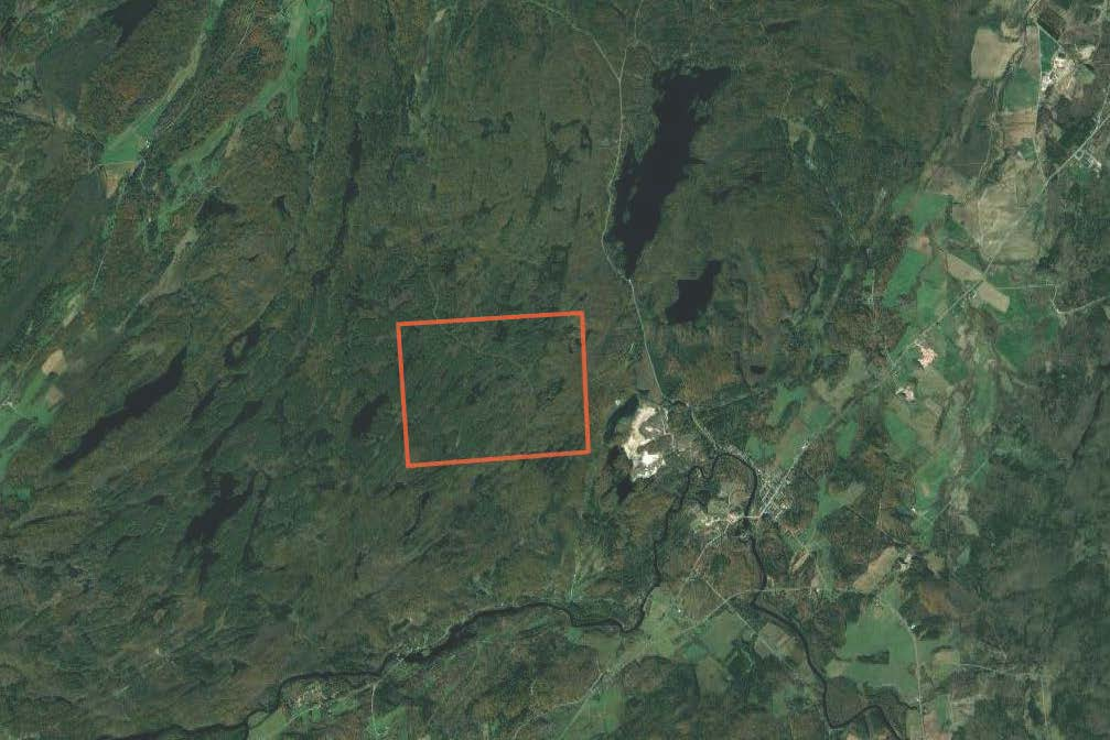 Aerial Map of Hunting Land for sale