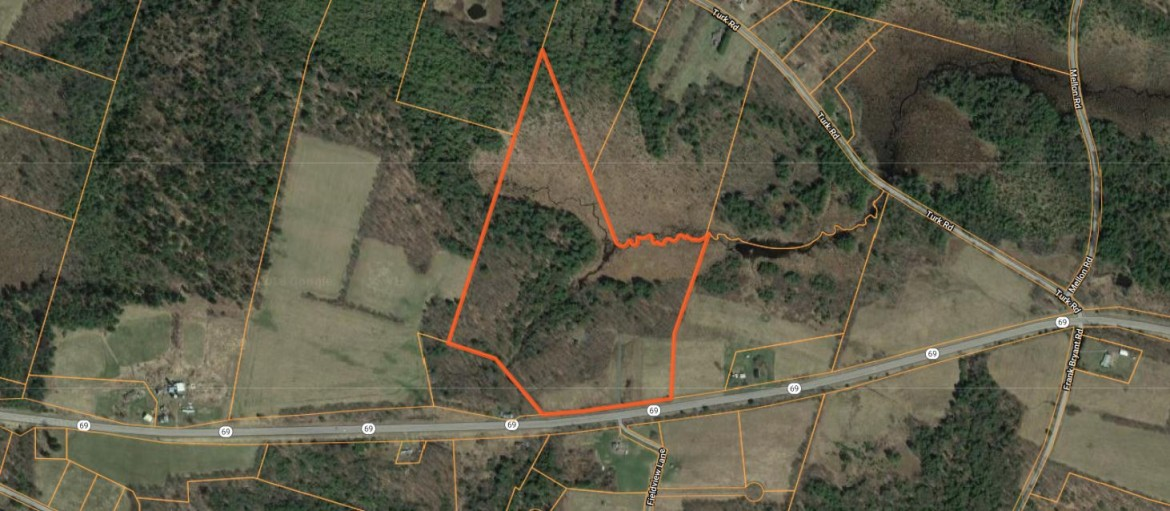 Aerial view of all seasons land for sale in Amboy