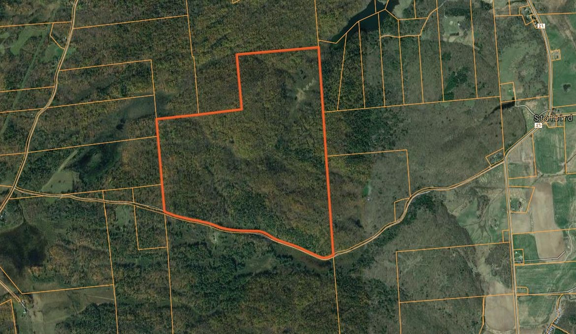 Map Land and cabin for sale upstate ny