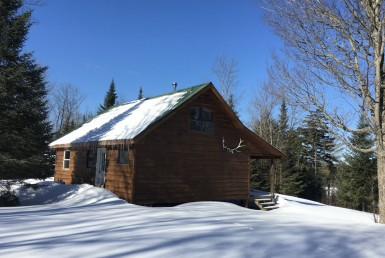 274 acres Cabin with Bass Pond Colton NY