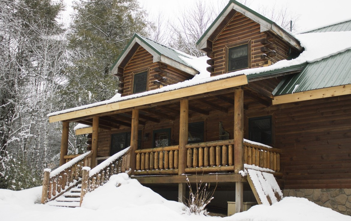 Log Home In The Heart Of The Tug Hill On 80 acres Land for Sale!