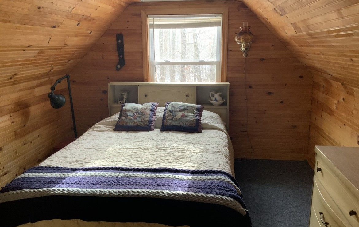 Upstairs has a 3/4 loft with a large bedroom.
