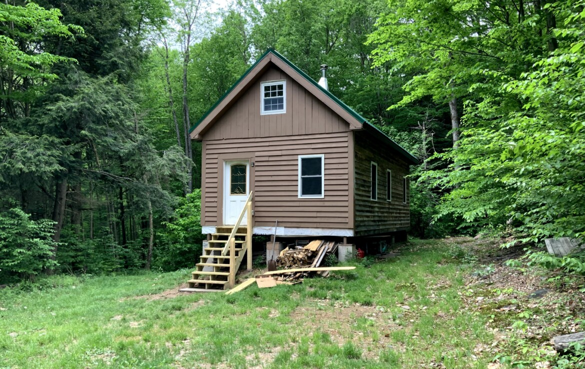 2.5 acres Land and Cabin for Sale Bordering Big Brook State Forest, Florence, NY!